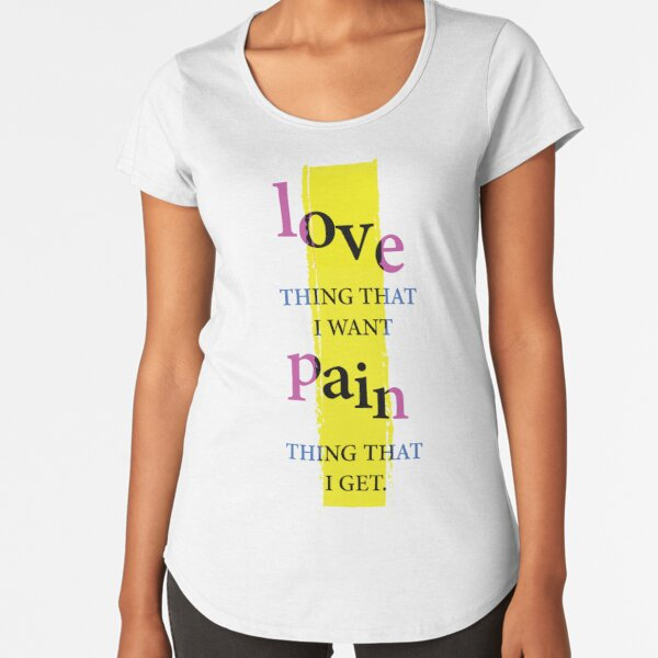 Liebe und Schmerz Premium Rundhals-Shirt