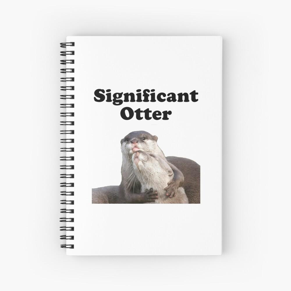 Bedeutender Otter Spiralblock