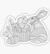 Easter Bunny Drawing Sticker