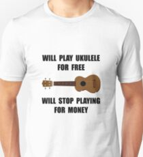 Ukulele Playing Unisex T-Shirt