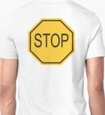 STOP, Sign, Old American, Americana, USA, America, Road Sign, Yellow Unisex T-Shirt