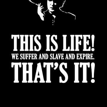 Bernard Black - Black Books T Shirt by madphilosopher