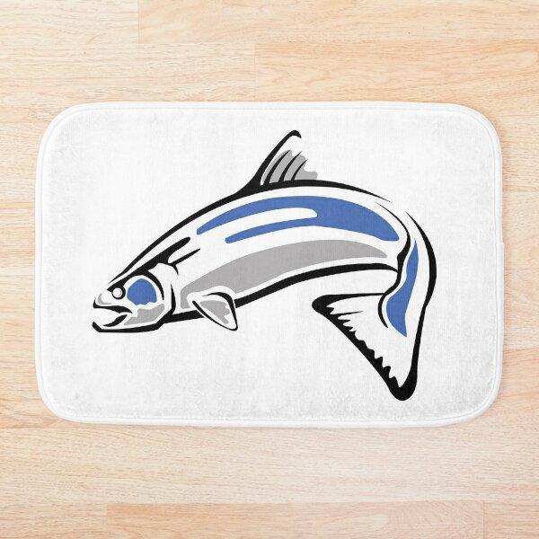 Chinook Salmon - Updated - Fish #1 Bath Mat