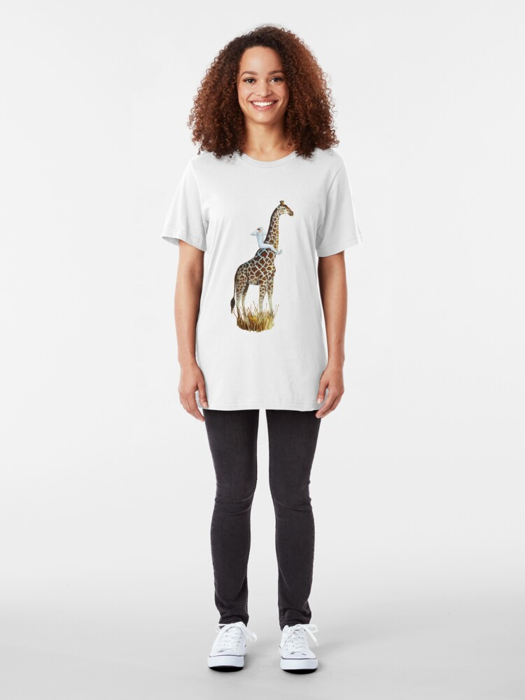 Alternate view of Lookout | Digital Illustration Slim Fit T-Shirt