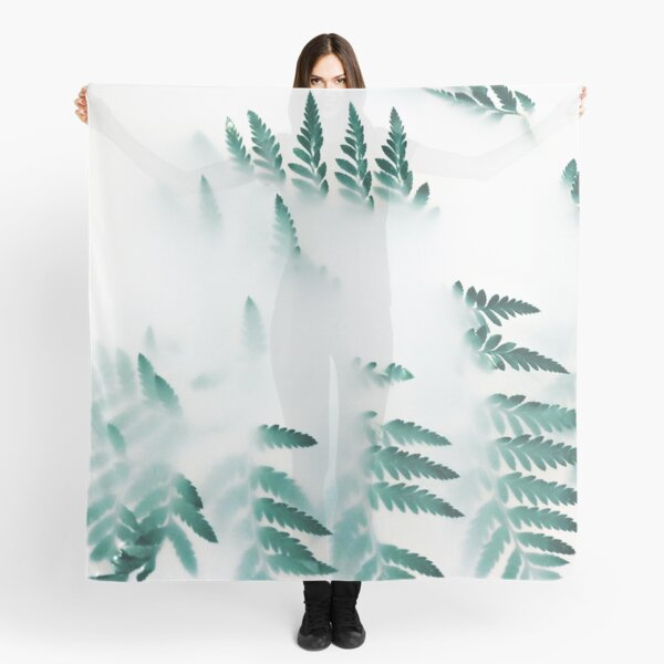 Abstract blur leaves Scarf