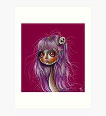 Little Skull Girl Art Print