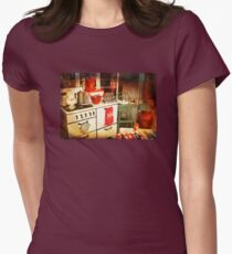 Once Upon a Time There Was a Kitchen....  Womens Fitted T-Shirt
