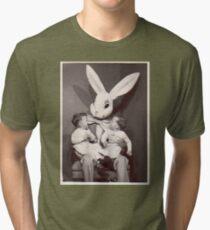 Creepy Easter Bunny Tri-blend T-Shirt