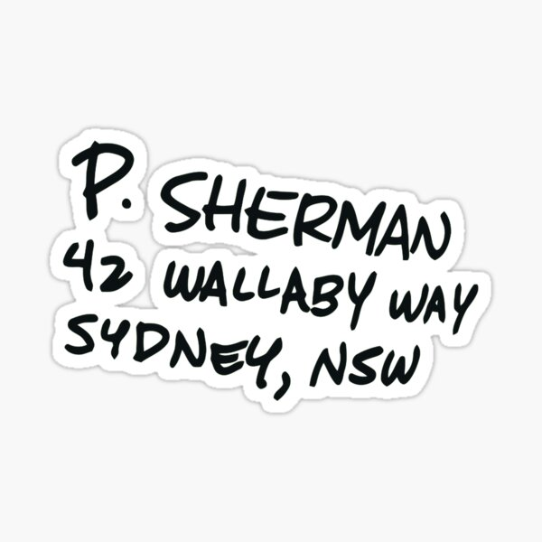 Nemo - P. Sherman Sticker