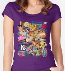 90's Life  Women's Fitted Scoop T-Shirt