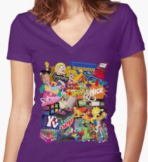 90's Life  Women's Fitted V-Neck T-Shirt