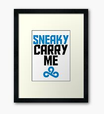 Sneaky Carry me C9 Framed Print
