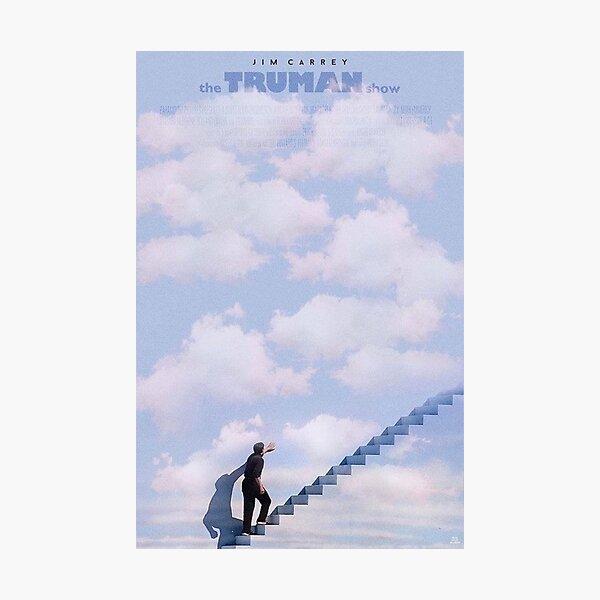 The truman show minimalist polaroid movie poster Photographic Print