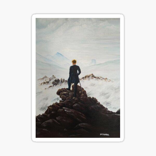Caminante sobre un mar de nubes (Caspar David Friedrich) Pegatina