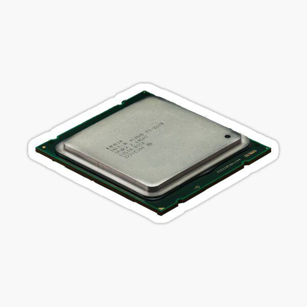 Cpu central processing unit processor Sticker