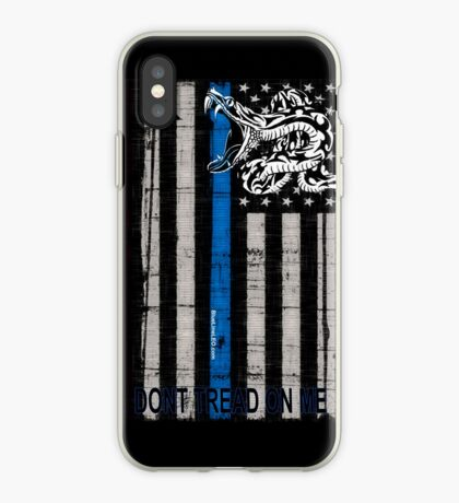 Blue Line LEO Dont Tread On me iPhone Case