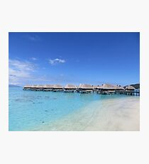 Water Bungalows by the beach Photographic Print