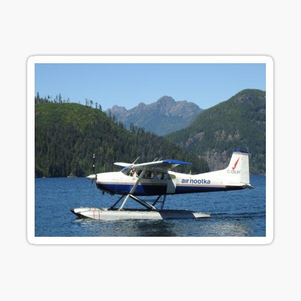 Air Nootka - Floatplane in Nootka Sound BC with Mountains Sticker