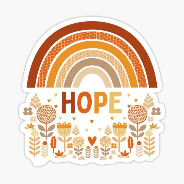 hope rainbow Sticker