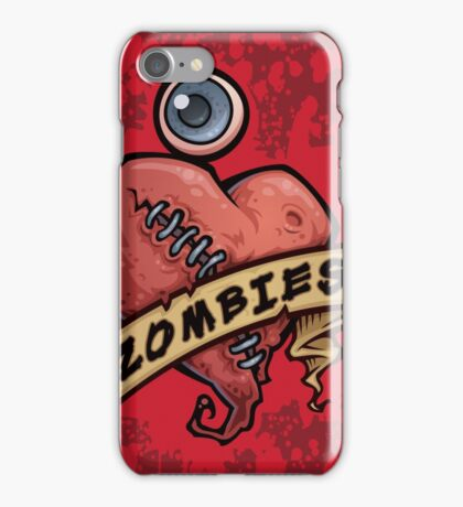 I Love Zombies... with Blood iPhone Case/Skin