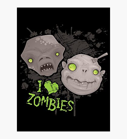 Zombie Heads Photographic Print