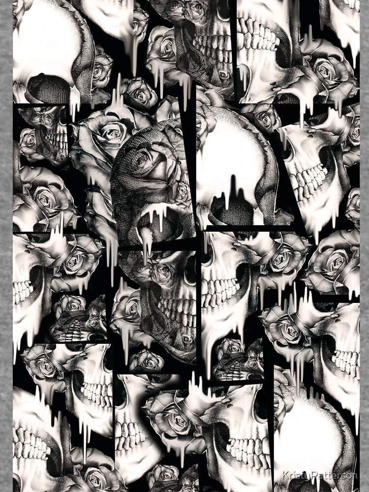 Patrón de cráneo roto, derretido de KristyPatterson