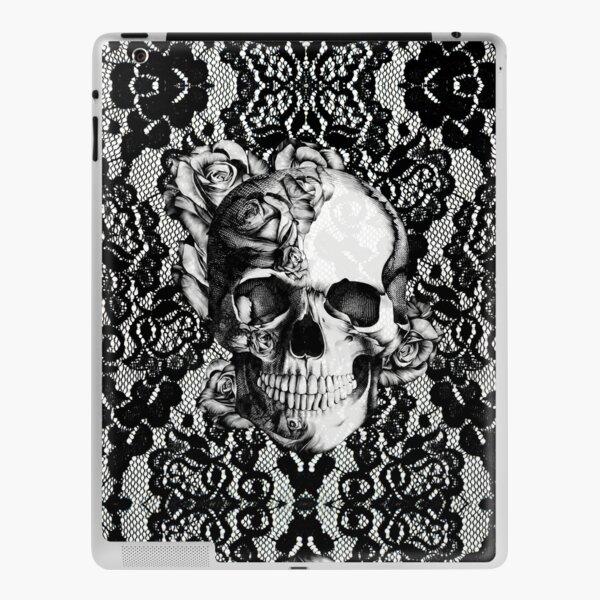 Calavera de encaje gótico Vinilo para iPad