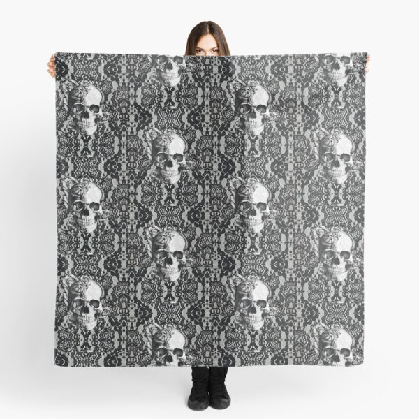 Gothic Lace skull Scarf