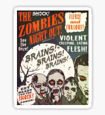 The Zombies Night Out! Sticker