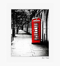 London Calling - Classic Red English Phone Box - Small Print Photographic Print