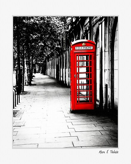 London Calling - Classic Red English Phone Box - Small Print by Mark Tisdale