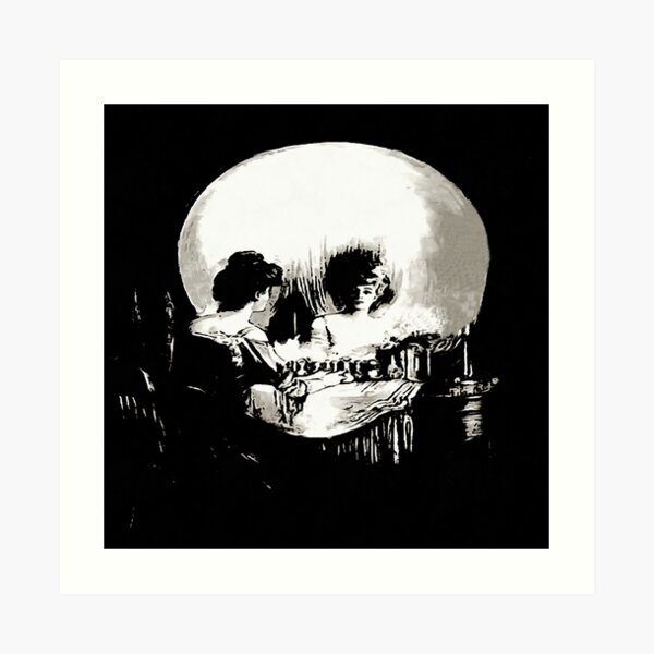 All Is Vanity Life, Death, and Existence Painting After Gilbert Art Print
