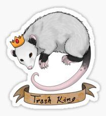 Trash King Opossum Possum Sticker