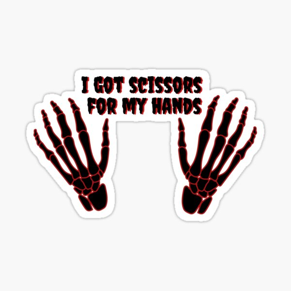 Maggie Lindemann 'Scissorhands' Single Design Skeleton Goth Cyber Punk  Sticker