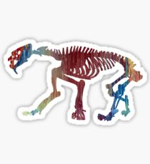 Smilodon Skeleton Sticker