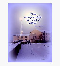 A Snowy Winter in Instow Photographic Print