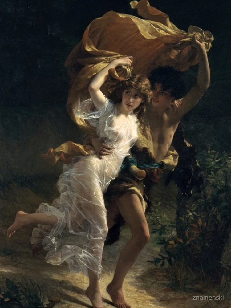 The Storm, Pierre-Auguste Cot, Date: 1880 by znamenski