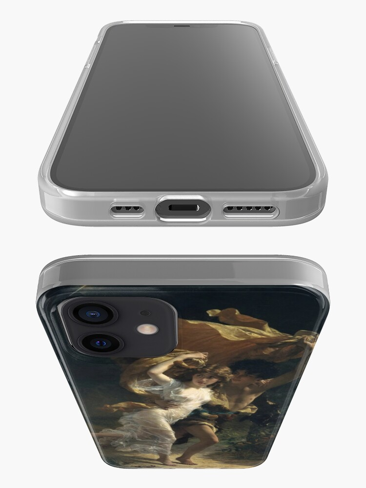 Alternate view of The Storm, Pierre-Auguste Cot, Date: 1880 iPhone Case