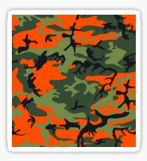 Orange grüne Tarnung Sticker