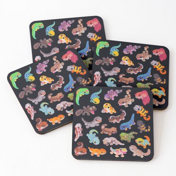 Gecko Coasters (Set of 4)