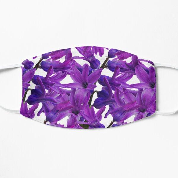 Purple Hyacinth Flowers,Purple Flower Flat Mask