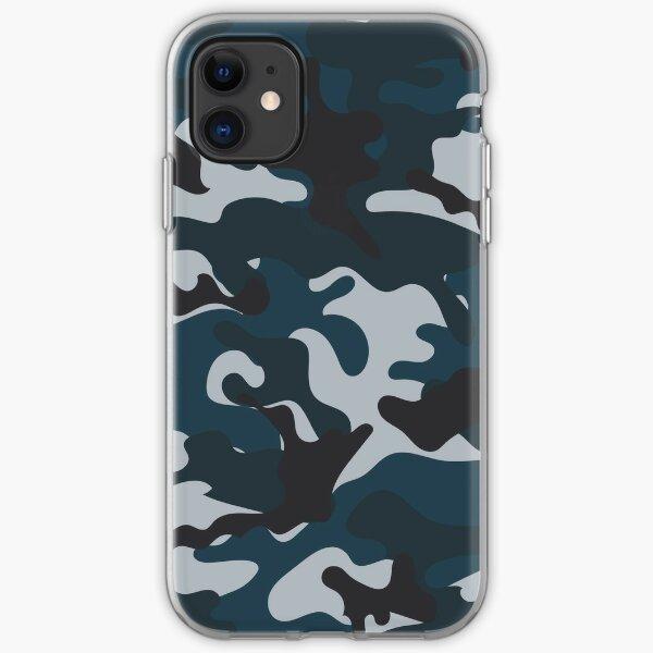 Blaue Tarnung iPhone Flexible Hülle
