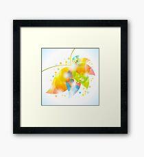 colorful abstract flower leaf Framed Print