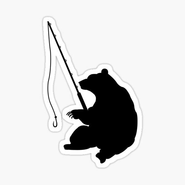 Bear Fishing Sticker