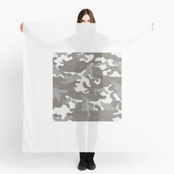 Weiß und Grau Camouflage Tuch