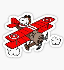 Snoopy Flying  Sticker