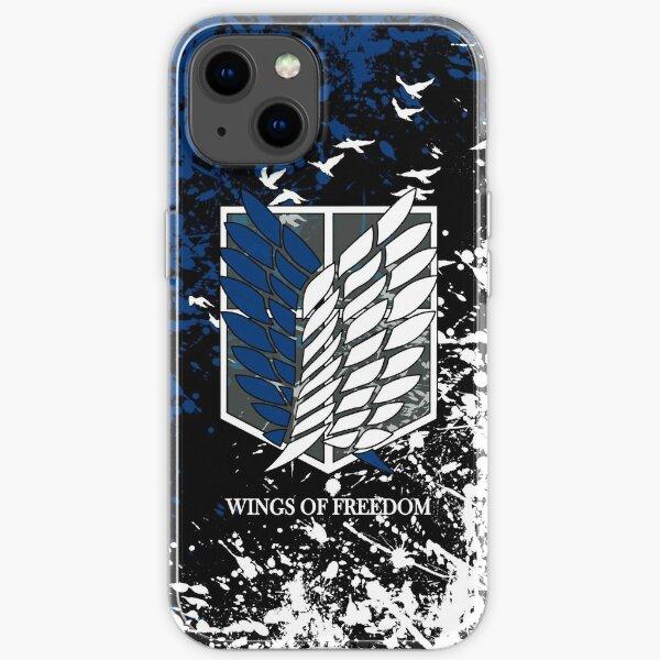 Ataque a los titanes Wings of Freedom Funda blanda para iPhone