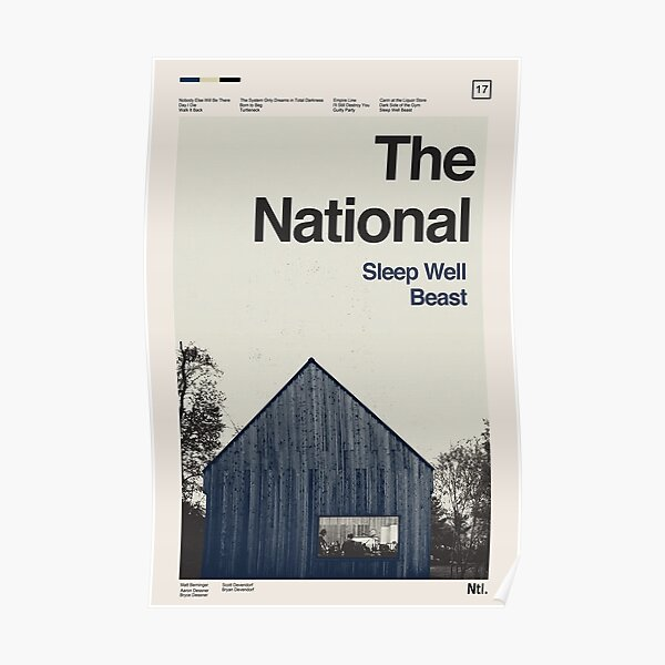 Sleep Well Beast - The National Poster
