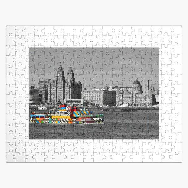 """Liverpool Mersey Ferries """"Dazzle Ferry"""" Jigsaw Puzzle"""