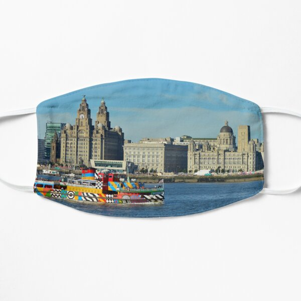 Liverpool Waterfront and Mersey Ferry Flat Mask